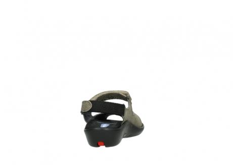 wolky sandalen 1300 salvia 615 taupe snakeprint metallic leder_8