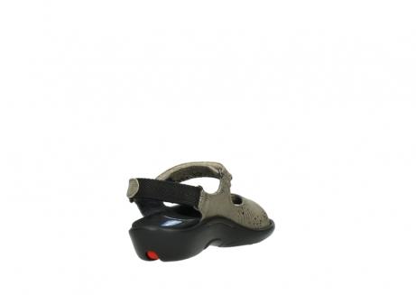 wolky sandalen 1300 salvia 615 taupe snakeprint metallic leder_9