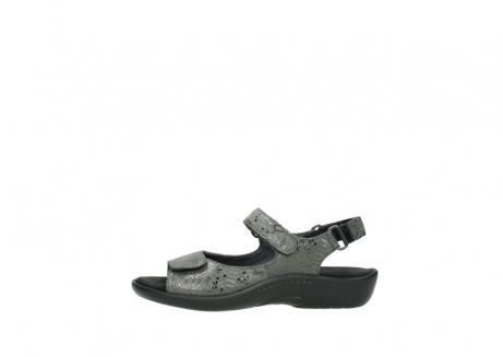 wolky sandalen 1300 salvia 621 antraciet craquele metallic leer_1