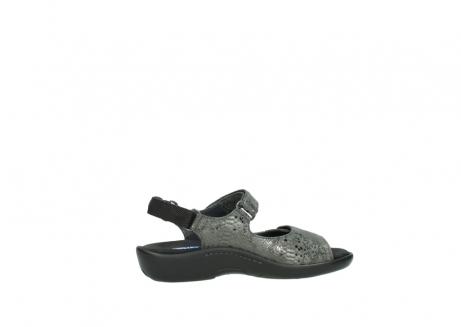wolky sandalen 1300 salvia 621 antraciet craquele metallic leer_12