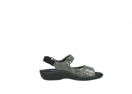 wolky sandalen 1300 salvia 621 antraciet craquele metallic leer_13