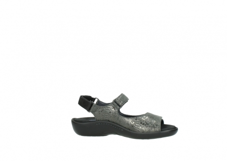 wolky sandalen 1300 salvia 621 antraciet craquele metallic leer_14