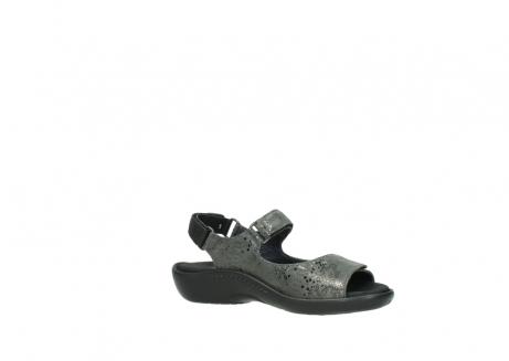 wolky sandalen 1300 salvia 621 antraciet craquele metallic leer_15