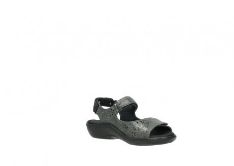 wolky sandalen 1300 salvia 621 antraciet craquele metallic leer_16