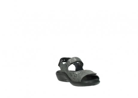 wolky sandalen 1300 salvia 621 antraciet craquele metallic leer_17