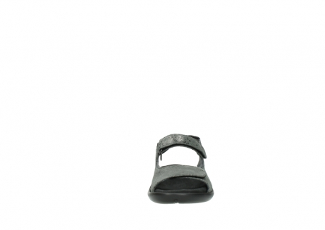 wolky sandalen 1300 salvia 621 antraciet craquele metallic leer_19