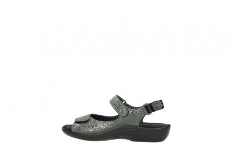 wolky sandalen 1300 salvia 621 antraciet craquele metallic leer_2