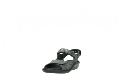 wolky sandalen 1300 salvia 621 antraciet craquele metallic leer_21