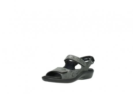 wolky sandalen 1300 salvia 621 antraciet craquele metallic leer_22