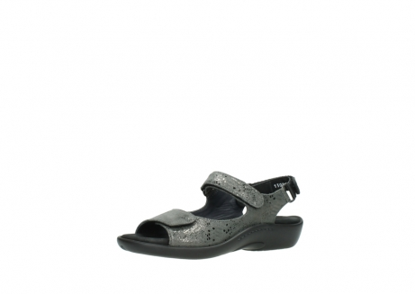 wolky sandalen 1300 salvia 621 antraciet craquele metallic leer_23
