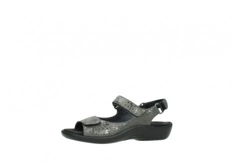 wolky sandalen 1300 salvia 621 antraciet craquele metallic leer_24