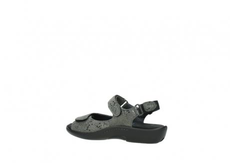 wolky sandalen 1300 salvia 621 antraciet craquele metallic leer_3