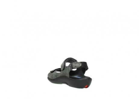 wolky sandalen 1300 salvia 621 antraciet craquele metallic leer_5