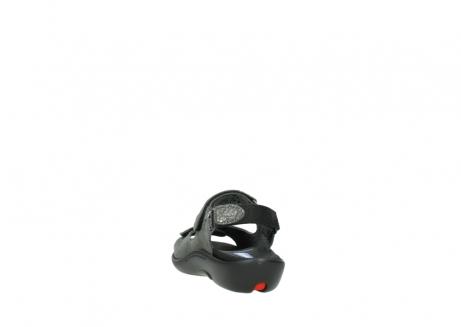 wolky sandalen 1300 salvia 621 antraciet craquele metallic leer_6
