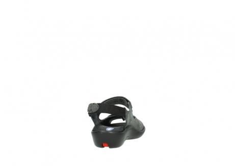 wolky sandalen 1300 salvia 621 antraciet craquele metallic leer_8