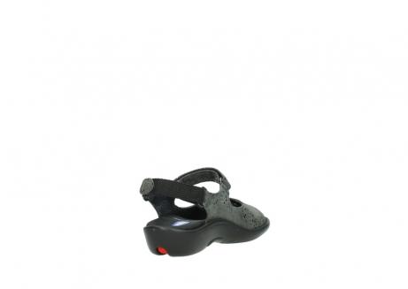 wolky sandalen 1300 salvia 621 antraciet craquele metallic leer_9