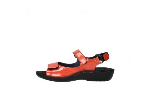 wolky sandalen 1300 salvia 653 koraal rood lakleer_1
