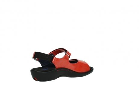 wolky sandalen 1300 salvia 653 koraal rood lakleer_10