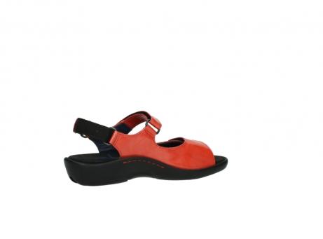 wolky sandalen 1300 salvia 653 koraal rood lakleer_11