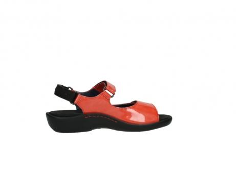 wolky sandalen 1300 salvia 653 koraal rood lakleer_12