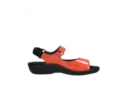 wolky sandalen 1300 salvia 653 koraal rood lakleer_13