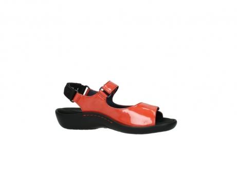wolky sandalen 1300 salvia 653 koraal rood lakleer_14