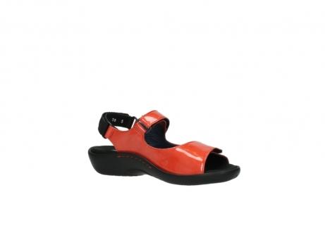 wolky sandalen 1300 salvia 653 koraal rood lakleer_15