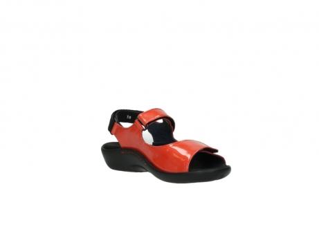 wolky sandalen 1300 salvia 653 koraal rood lakleer_16