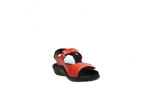 wolky sandalen 1300 salvia 653 koraal rood lakleer_17