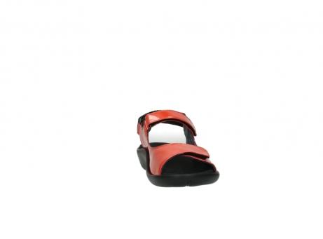 wolky sandalen 1300 salvia 653 koraal rood lakleer_18