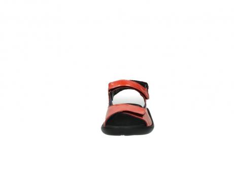 wolky sandalen 1300 salvia 653 koraal rood lakleer_19