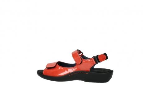 wolky sandalen 1300 salvia 653 koraal rood lakleer_2