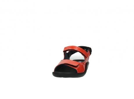 wolky sandalen 1300 salvia 653 koraal rood lakleer_20