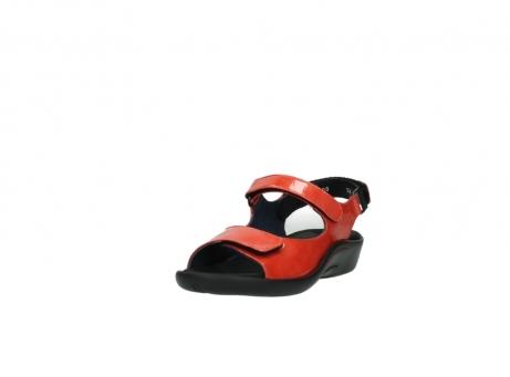 wolky sandalen 1300 salvia 653 koraal rood lakleer_21