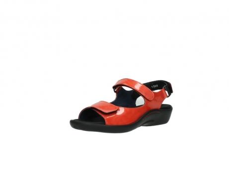 wolky sandalen 1300 salvia 653 koraal rood lakleer_22