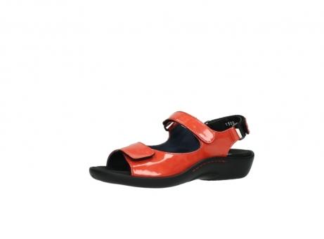 wolky sandalen 1300 salvia 653 koraal rood lakleer_23