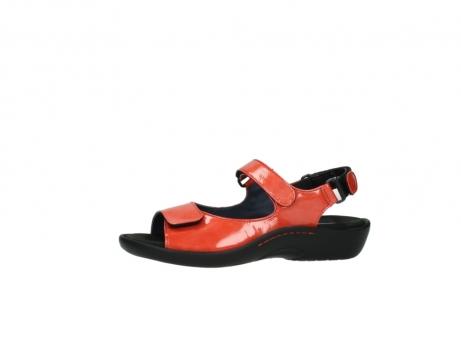 wolky sandalen 1300 salvia 653 koraal rood lakleer_24