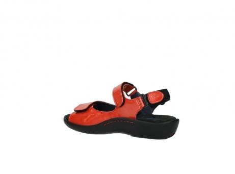 wolky sandalen 1300 salvia 653 koraal rood lakleer_3