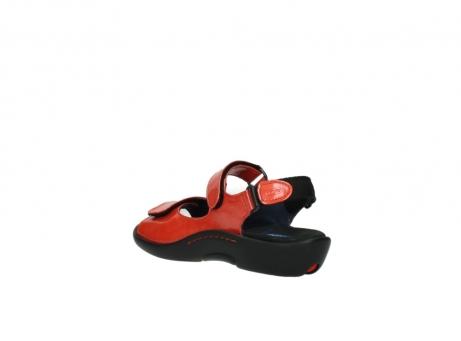 wolky sandalen 1300 salvia 653 koraal rood lakleer_4