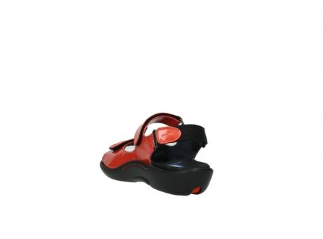 wolky sandalen 1300 salvia 653 koraal rood lakleer_5