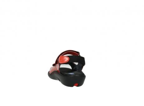 wolky sandalen 1300 salvia 653 koraal rood lakleer_6