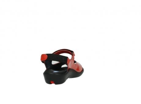 wolky sandalen 1300 salvia 653 koraal rood lakleer_8