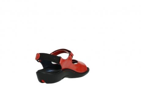 wolky sandalen 1300 salvia 653 koraal rood lakleer_9