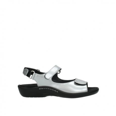 wolky sandalen 1300 salvia 820 grijs metallic lakleer