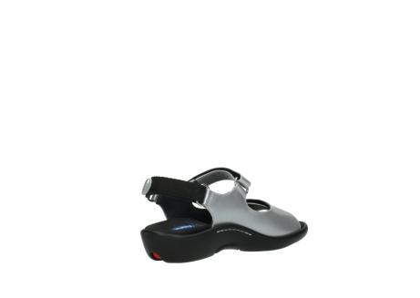 wolky sandalen 1300 salvia 820 grijs metallic lakleer_10
