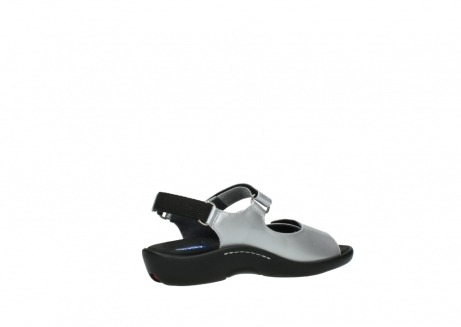 wolky sandalen 1300 salvia 820 grijs metallic lakleer_11
