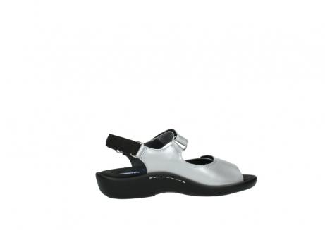 wolky sandalen 1300 salvia 820 grijs metallic lakleer_12
