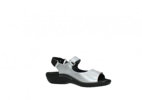 wolky sandalen 1300 salvia 820 grijs metallic lakleer_15