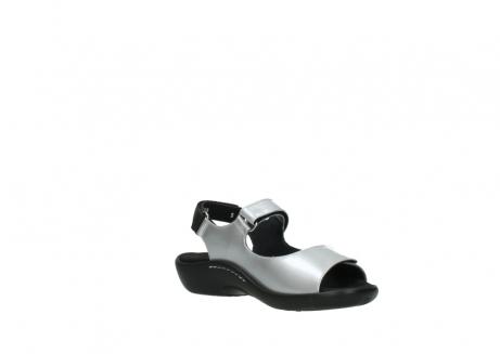 wolky sandalen 1300 salvia 820 grijs metallic lakleer_16