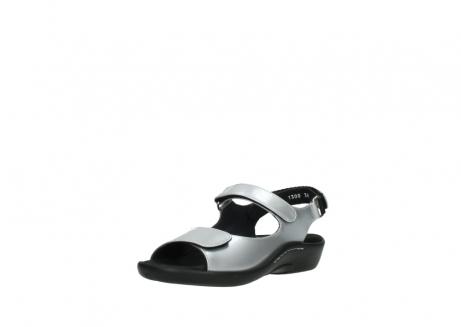 wolky sandalen 1300 salvia 820 grijs metallic lakleer_22